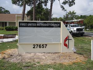 Lee Designs   First United Methodist Church Bonita Springs Monument Sign resized 600