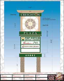 Lee Designs Drawing of Creighton Commercial Development Plaza Pylon Sign resized 600