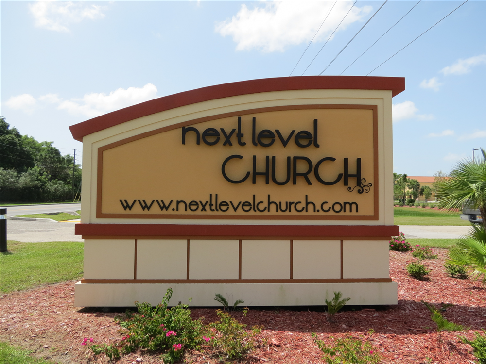 Next Level Church, Ft. Myers by Lee Designs Monument Sign