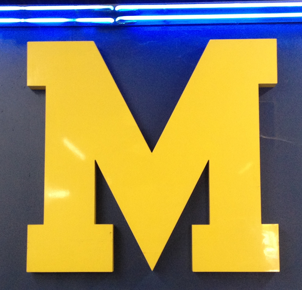 Michigan M with Blue Neon by Lee Designs