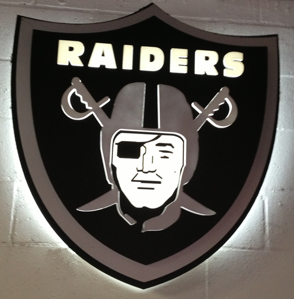 Raiders Man Cave Sign by Lee Designs